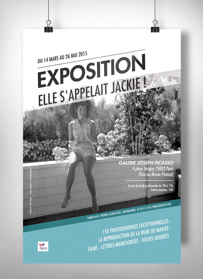 affiche exposition jackie kennedy