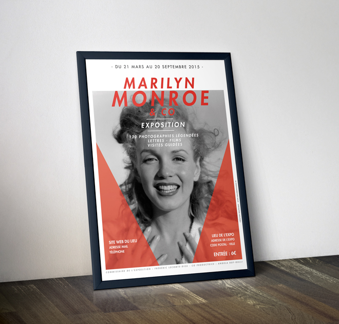 Marilyn Monroe Affiche - Cadre