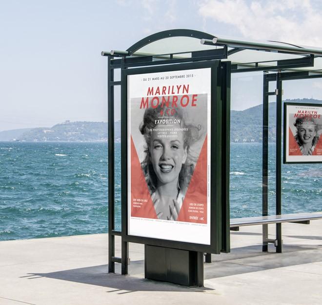Marilyn Monroe Affiche - Extérieur